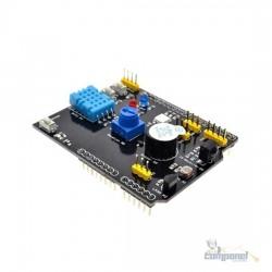 Shield Arduino multifunções com sensores E/OS